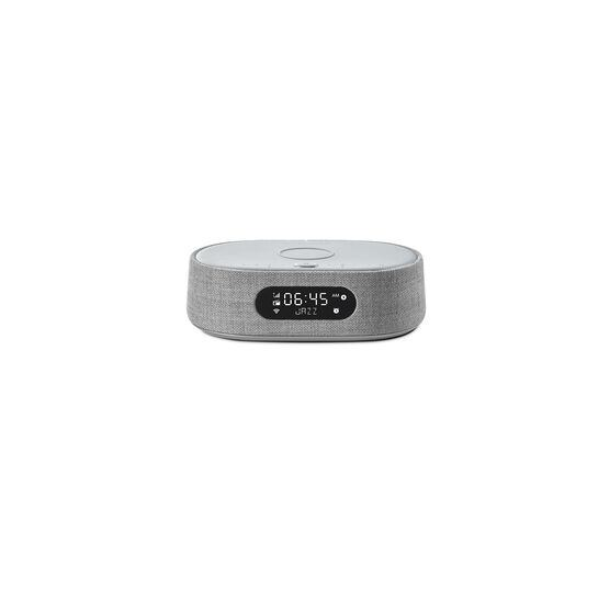 Harman Kardon Citation Oasis FM - Grey - Voice-controlled speaker with clock radio and wireless phone charging - Front
