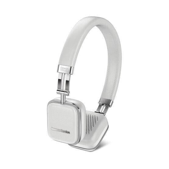 Soho Wireless - White - Premium, on-ear headset with simplified Bluetooth® connectivity. - Front