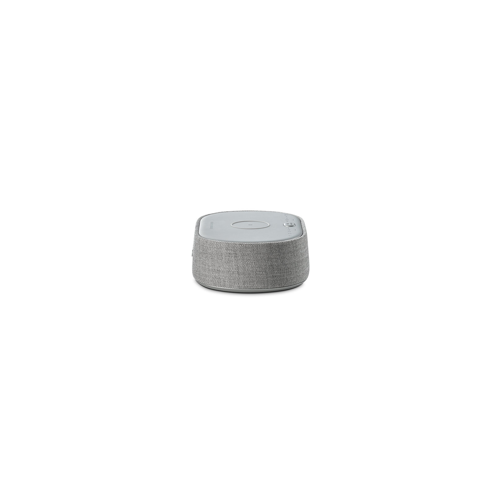 Harman Kardon Citation Oasis FM - Grey - Voice-controlled speaker with clock radio and wireless phone charging - Left