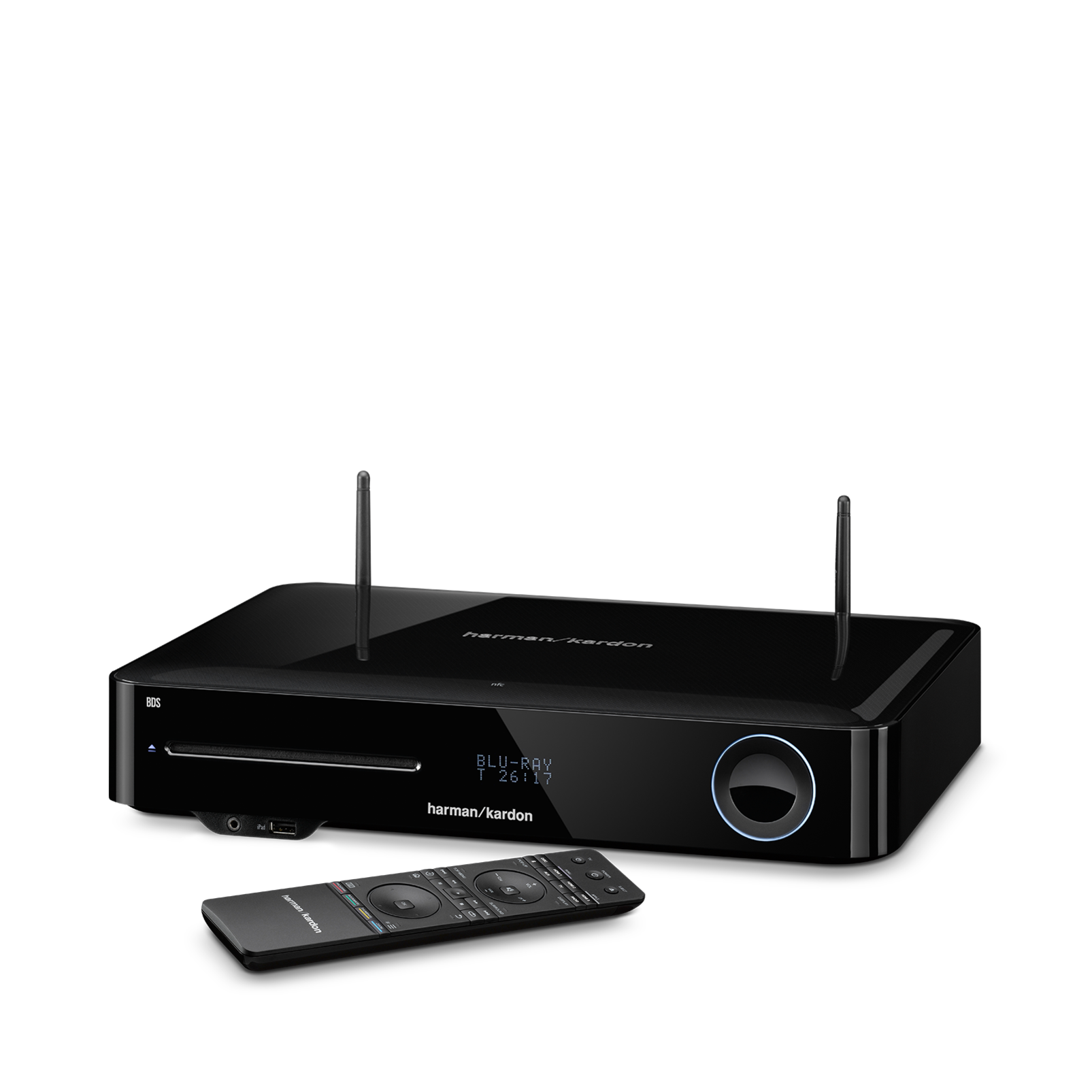 BDS 580S - Black - 5.1-channel, 325-watt, 4K upscaling Blu-ray Disc™ Receiver with Spotify Connect, AirPlay and Bluetooth® technology. - Hero