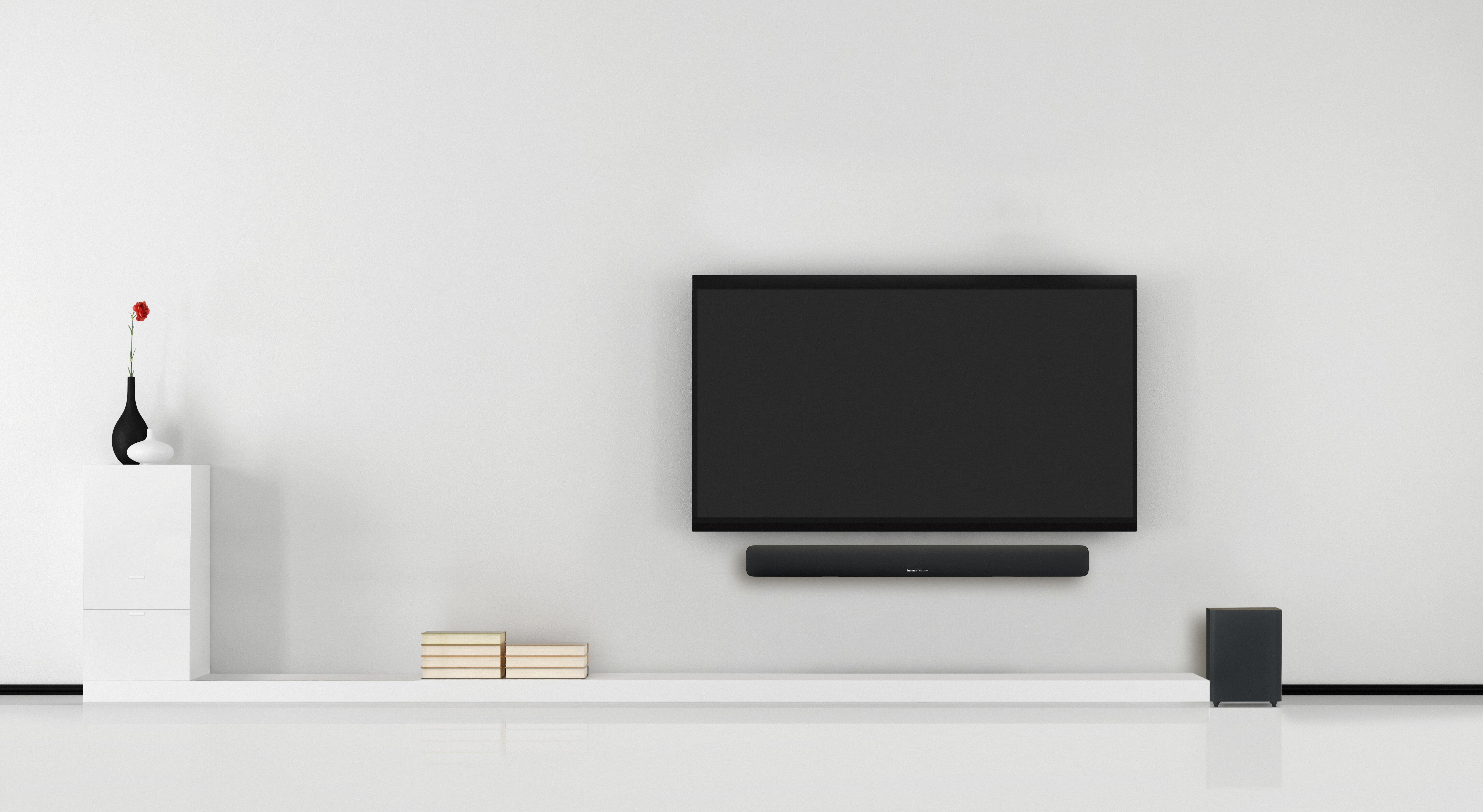 Hk Sb20 Barre De Son Bluetooth Et Caisson De Graves Puissant  # Meuble Tv Avec Barre De Son