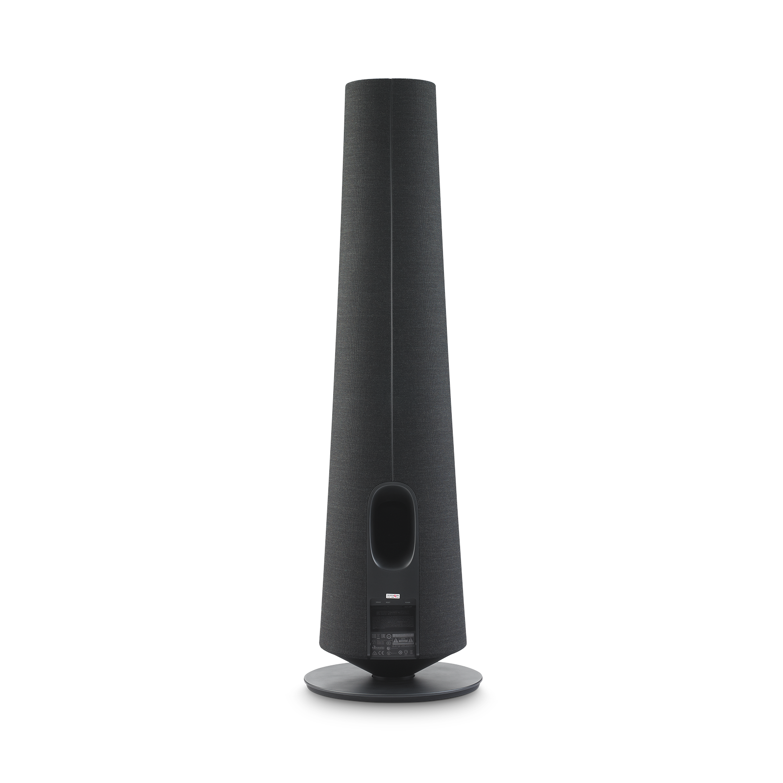 Harman Kardon Citation Tower - Black - Smart Premium Floorstanding Speaker that delivers an impactful performance - Back